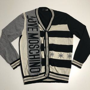Love Moschino 100% Virgin Wool Cardigan Large